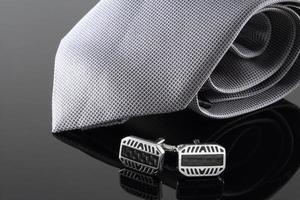 corbata con gemelos foto