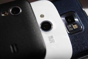 câmeras de telefone