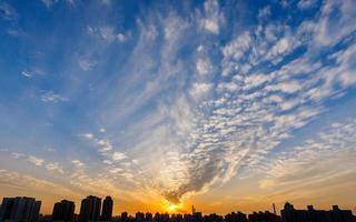 Sun rising photo