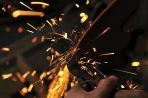 Sparks smelting industry photo