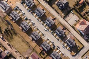 aerial view of wroclaw city suburbs photo