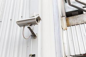 circuito cerrado de televisión para la seguridad del edificio foto