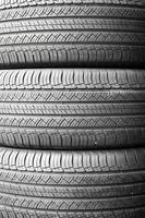 Car tires background in a row.