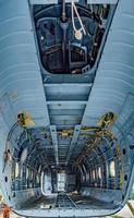 compartimento de carga del helicóptero sin detalles foto