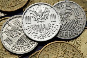 monedas de austria foto