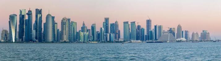 Doha Cornice Towers Panorama photo