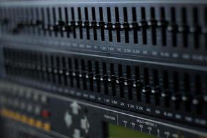 Audio equalizer rack photo