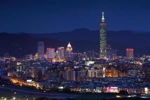 Taipei night view photo