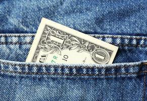billete de un dólar foto