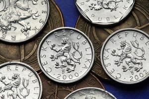 monedas de la república checa foto