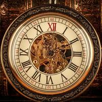 gros plan sur horloge vintage