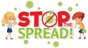 detener la propagación del signo coronavirus vector