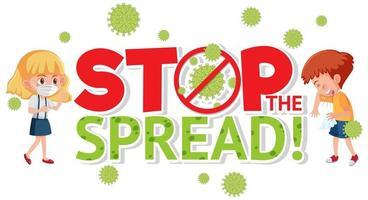 parar de espalhar sinal de coronavírus vetor