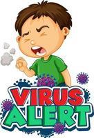 niño enfermo tosiendo vector