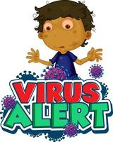 ''Virus Alert'' with Boy and Virus Cells