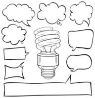 Speech Bubbles and Lightbulb