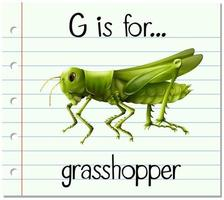 G is for Grasshopper vector