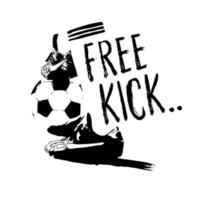 esboço de futebol de pontapé-livre vetor
