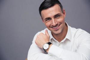 retrato de un hombre de negocios sonriente foto