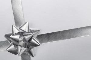 Silver ribbon bow photo