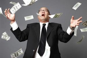Raining hundred dollar bills