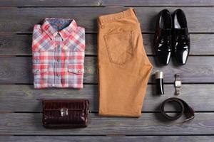 Stylish and colorful men's clothes.