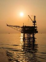 oil platform on the sea photo