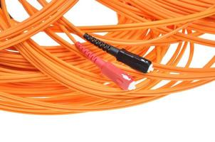 Fiber optic cables patch cord with sc plugs photo