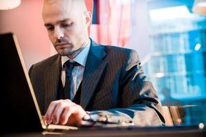 successful elegant fashionable businessman photo