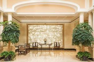 interior e corredor modernos do hotel