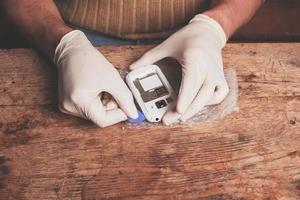Technician fixing smart phone photo