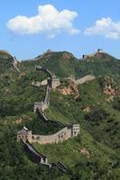 die große mauer en china bei jinshanling foto