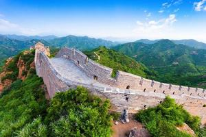 great wall the landmark of china and  beijing photo