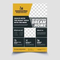 panfleto de construção de casa vetor