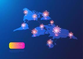 mapa mundial de ubicación de coronavirus