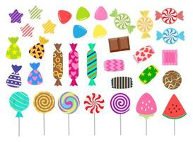 Sweets and candies icon set