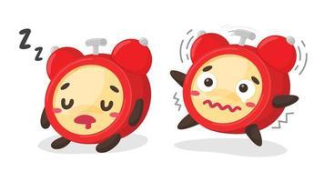 conjunto de reloj despertador de dibujos animados