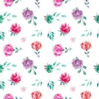 Sweet Floral Watercolor Seamless Pattern