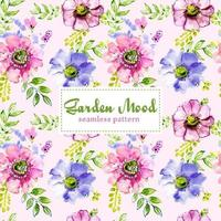 Pretty Tileable Floral Background vector
