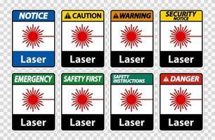 Laser Symbol Signs vector