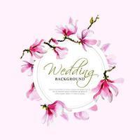 tierno marco de magnolia vector
