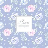 Pastel Seamless Rose Pattern vector
