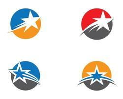 conjunto de iconos de logotipo estrella circular vector