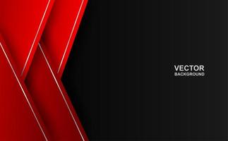 Gradient red overlapping triangle border on black vector