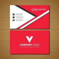 Red and white angle design business card vector