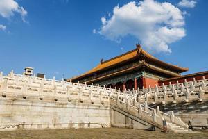 Los palacios reales de la ciudad prohibida en Beijing, China