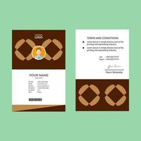 Brown Negative Space Diamond ID Card
