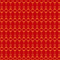 patrón rojo y naranja con formas redondas