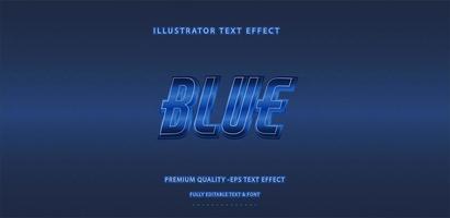 efecto de texto azul profundo vector