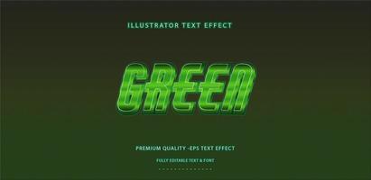 estilo de texto verde profundo vetor